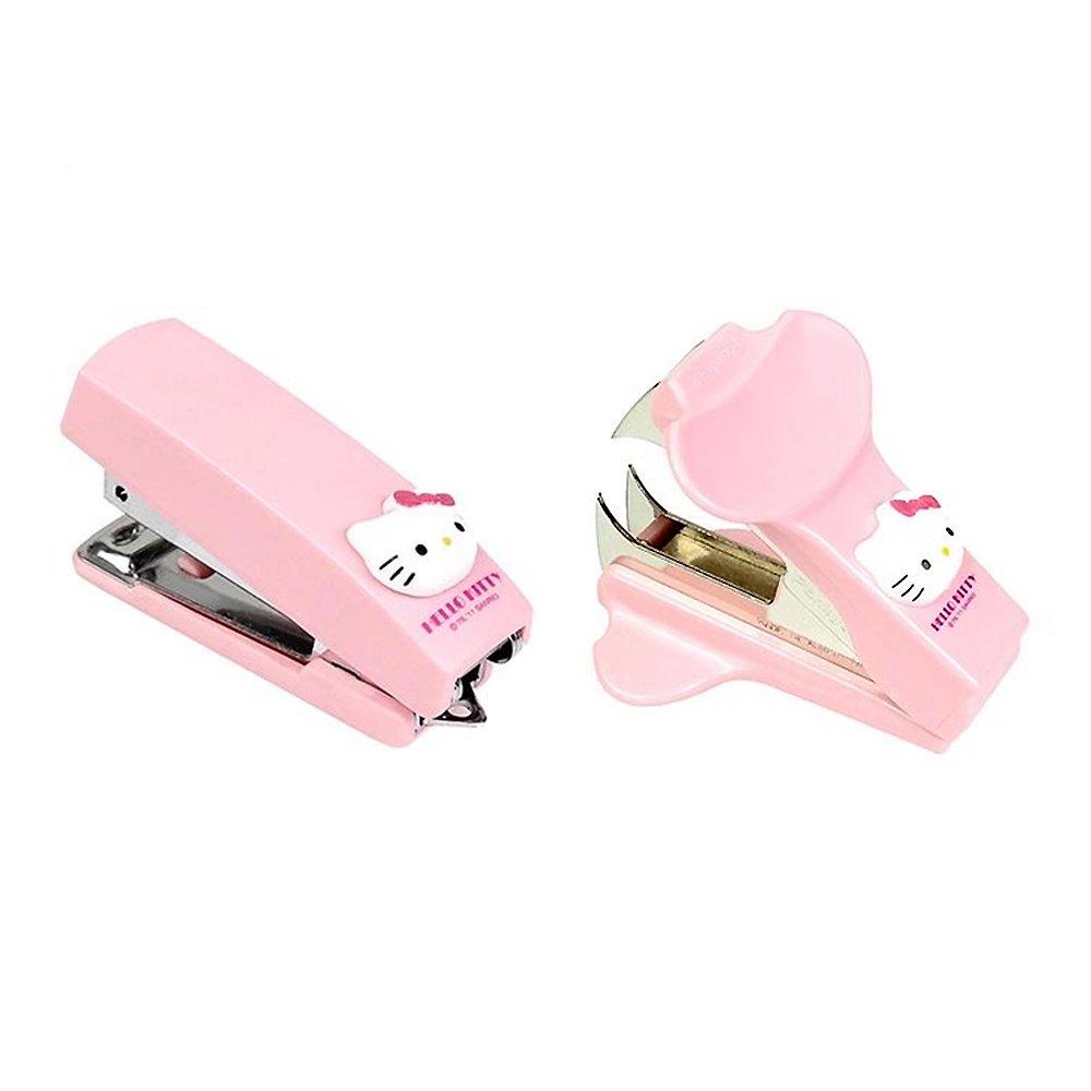 Sanrio Hello Kitty Office School Stationery Stapler + Staple Remover Set