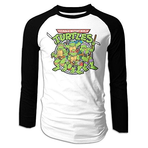Teenage Mutant Ninja Turtles Raphael Men Plain Raglan T Shirts (Ninja Turtle Onesie Mens)