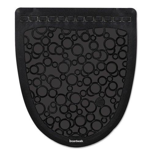 Boardwalk P000I006M0021430L1 Urinal Mat 2.0, Rubber, 17 1/2 x 20, Black/Black, 6/Carton
