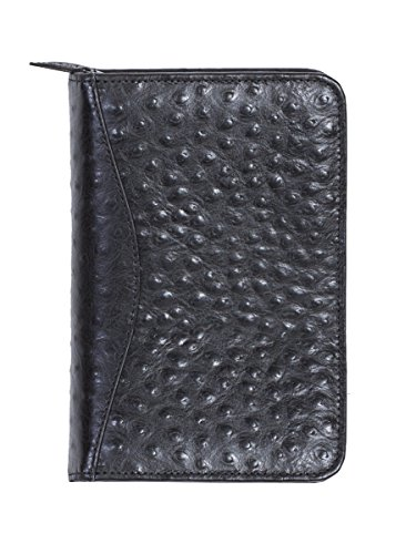 Scully Women's 8002Z Ostrich Leather Organizer (Black)