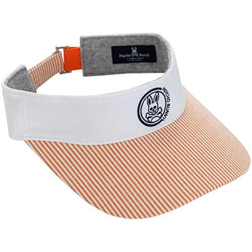 [해외]사이코 바 니 PSYCHO BUNNY 모자 STRIP 썬 바이 저 / Psycho Bunny HAT STRIP Sun Visor