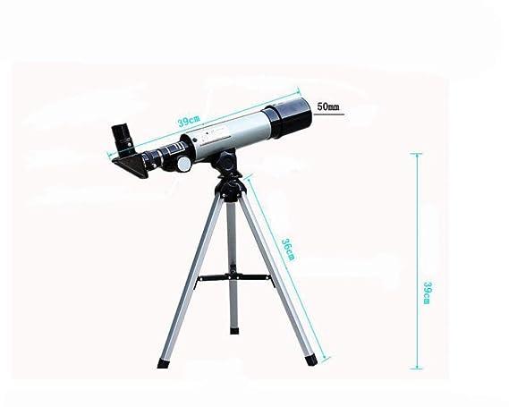 Relddd Telescopio Estudiante Profesional telescopio astronómico observación niños-Primer Solo-Cilindro Alta definición astronómica Teles Hacer Frente a: ...