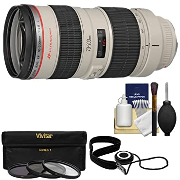 Canon EF 70-200mm f/2.8L USM Zoom Lens with 3 UV/ND8/CPL Filters + Kit for EOS 6D, 70D, 7D, 5DS, 5D Mark II III, Rebel T5, T5i, T6i, T6s, SL1 Camera
