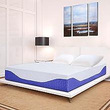 "PrimaSleep Multi-Layered I-Gel Infused Memory Foam Mattress, Cobalt Blue, 12"" H/King"
