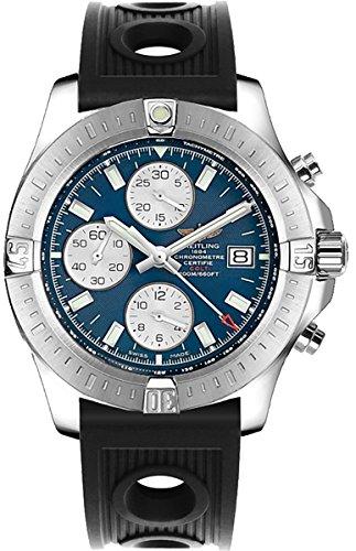 Breitling Colt Chronograph Automatic Men's Watch w/Black Ocean Racer Rubber Strap A1338811/C914-200S