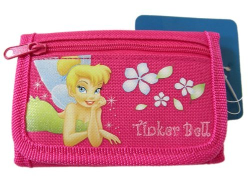 Snap Closure Pink Trifold Wallet (Tinkerbell Snap)