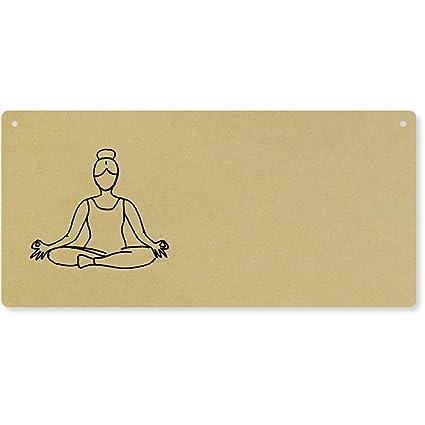 Azeeda Postura de Yoga Grande Placa de Pared de Madera ...