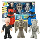 Doctor Who Monsters Multi-Pack - Includes Dalek, Weeping Angel, Cyberman, and Silent Army