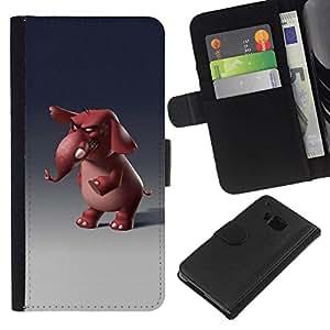 All Phone Most Case / Oferta Especial Cáscara Funda de cuero Monedero Cubierta de proteccion Caso / Wallet Case for HTC One M7 // Cartoon 3D Character Funny