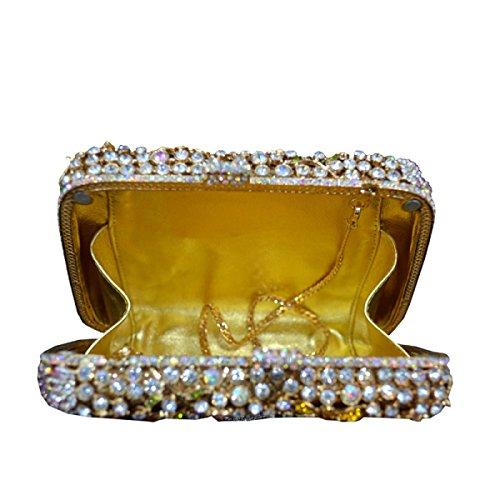 Sac Diamant Soirée à Fête Fête OneColor Dames Main IfvqFS