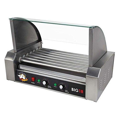 RollerDog Big 18 Stainless Steel Hotdog Roller with Drip Tray