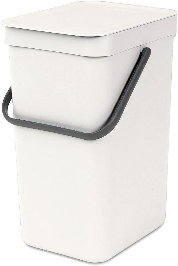 Brabantia Sort & Go Waste Bin, 16L/4.2 Gal. , 16 L, White: Home & Kitchen