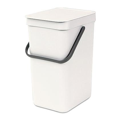 Brabantia Sort & Go Cubo de Basura, 16 L, Plástico, Blanco, 27