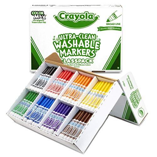(Crayola Broad Line Washable Markers, Classpack Bulk Markers, 200 Count (Renewed))