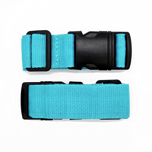 Pack of 2 Add-A-Bag Luggage Strap, Baggage Suitcase Adjustable Belt Straps Travel Accessories Attachment - Connect Your Three Luggages Together, Blue