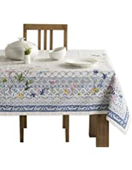 Maison d' Hermine Faïence 100% Cotton Tablecloth 60 - Inch by 120 - Inch