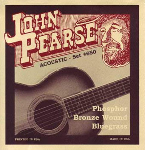Guitar Strings Bluegrass (John Pearse P650 Bronze Acoustic Guitar Strings, Medium)