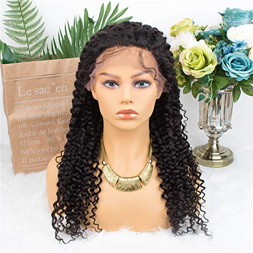 ALLRUN Curly Lace Front Wigs Remy Human Hair Wig for Black Women 13x4 Lace Frontal Kinky Curly Wigs 150% Density (16 inch) from ALLRUN