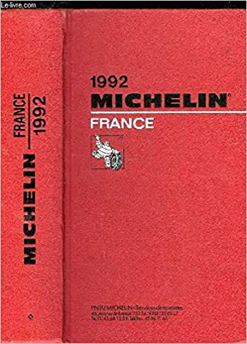 France 1992 Michelin Red Guide