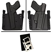 Ultimate Arms Gear Comp-Tac Flatline Holster For H&K P30/L/45/C/30SK Slide Right Hand Black Inside the Waistband or Outside the Waistband 11 in 1 Survival Multi Tool