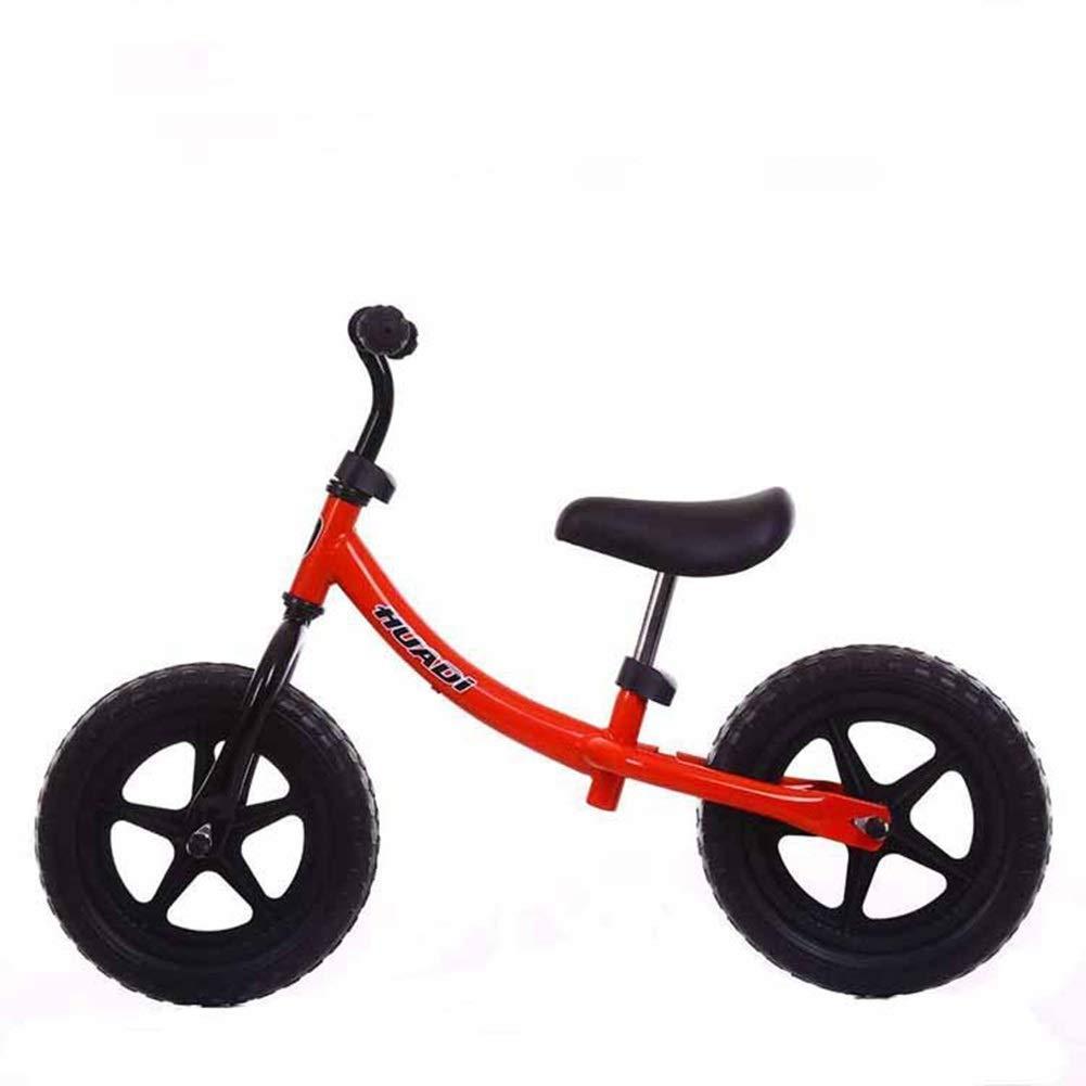 バランスバイク、男の子用女の子用ランニングウォーキングバイク2、3、4、5、6年用、ペダル無しトレーニングバイク、スーパーソフトサドル調節可能、滑り止めハンドル、12