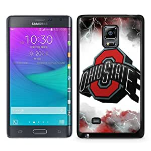 Unique Samsung Galaxy Note Edge Skin Case ,Fashionable And Durable Designed Phone Case With Ncaa Big Ten Conference Football Ohio State Buckeyes 36 Black Samsung Galaxy Note Edge Screen Cover Case