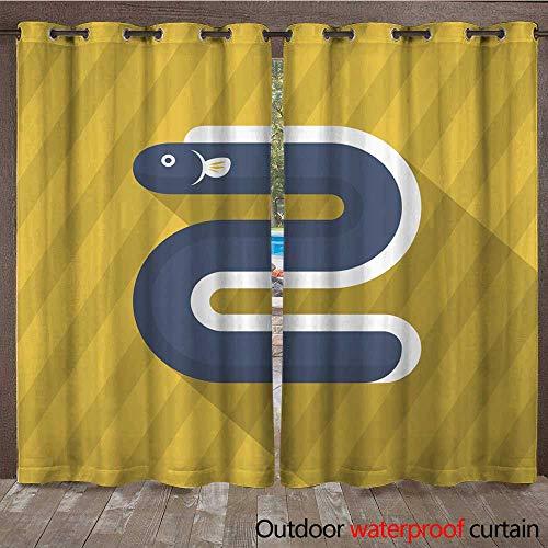 Camel Eel (RenteriaDecor Home Patio Outdoor Curtain EEL icon Vector Flat Long Shadow Design EPS W84 x L108)