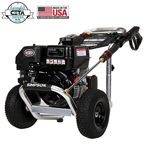 Simpson Cleaning ALH3225 Aluminum Gas Pressure Washer Powered by Kohler HS265 3200 PSI at 2.5 GPM (Simpson Series Pro)