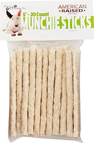 Dog Munchy Stix - Pure & Simple Pet 6921 20 Count Munchie Sticks, 5