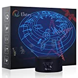 Musical World 3D Night Light Lamp,Elstey 7 Color Changing Optical Illusion LED Lights with Acrylic Flat & ABS Base & USB Cable Touch Desk Lamps for Holiday Gift