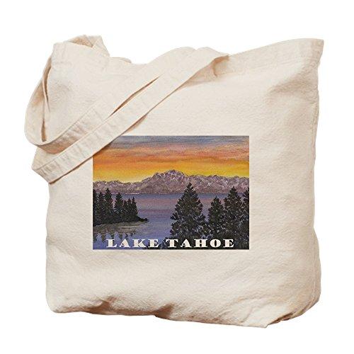 CafePress - Mt. Tallac Lake Tahoe - Natural Canvas Tote Bag, Cloth Shopping - Tahoe Lake Shopping