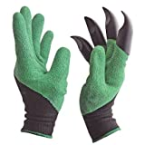 We love the way these gloves work and the ability for them to loosen dirt for flowers or gardening. Be sure to rinse them off after working in the garden or flower beds and allow to air dry.