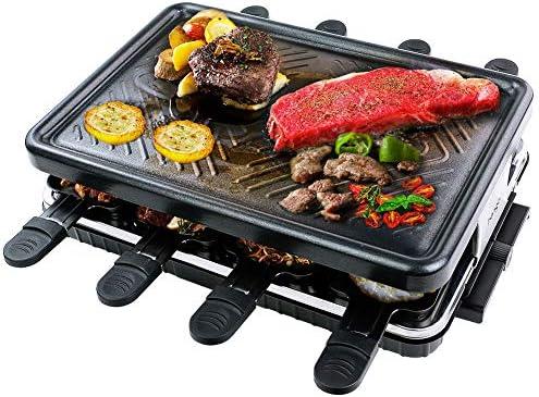 Raclette para 8 Personas Grill Plancha Cocina Portatil Parrilla ...
