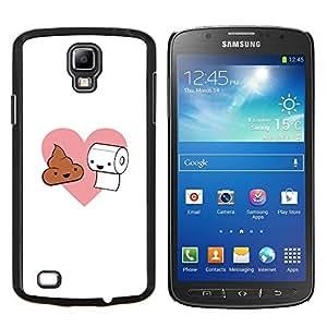 LECELL--Funda protectora / Cubierta / Piel For Samsung Galaxy S4 Active i9295 -- Natural Poop amor y papel higiénico --
