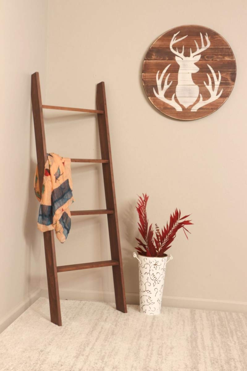 BrandtWorks 209L-5ft Modern Rustic Style 5 Foot Carrington Lucas Ladder by BrandtWorks