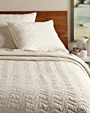 Be-you-tiful Home 3 Piece Chevron Quilt Set, King, Ivory