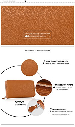 Clutch Fashion Quality Purse High KIDS Zip SHINGING Single Leather Ladies Black Upscale fgv77O