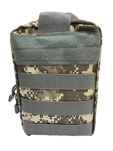 WildCow Emergency Pet First Aid Kit for Dogs, Cats, Small Animals (Camo Gray) - 40 Piece Medical Pet Disaster Kit/Bug Out Bag Vet Wrap