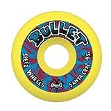 : Bullet Church Glass Retro Yellow 95a Skateboard Wheel, 60 - mm