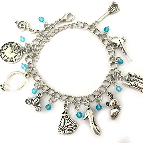 Disney Cinderella Charm Bracelet Jewelry - Cinderella Gifts for Women by BlingSoul (Image #1)