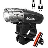 EKPO Bike Light USB Rechargeable and Free USB Taillght. Fits All Bikes.Waterproof. LED High Intensity Keeps You Safe at Night. Fast No Tool Required to Install. Tough & Durable Mountain Bicycle Set