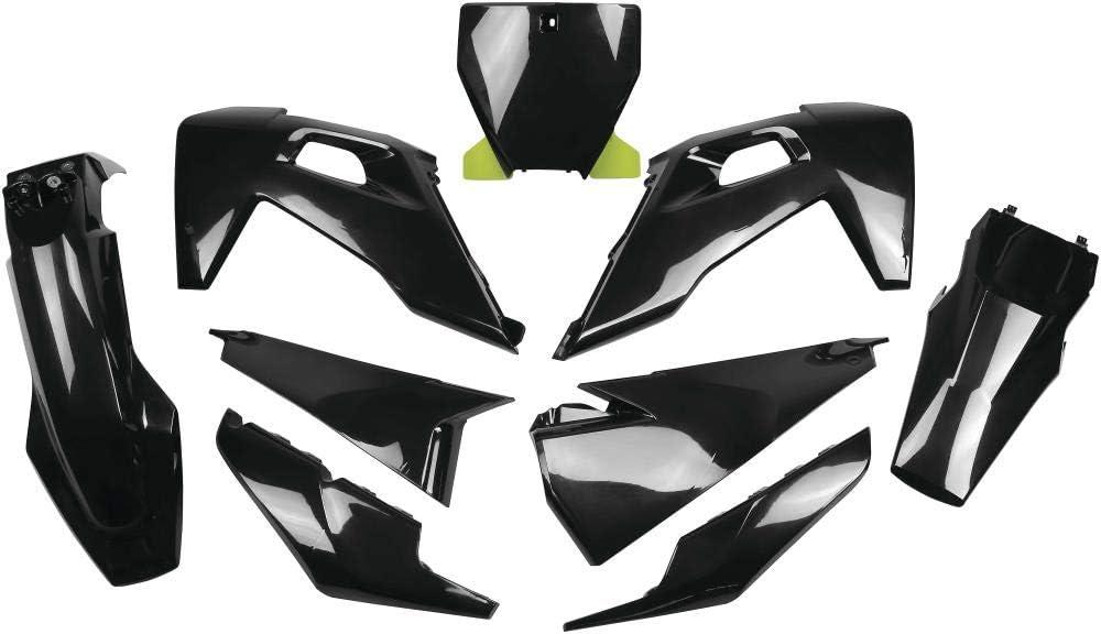 Ufo Plastics Husq Fc//Tc 125-450 Plastic Kit Blk Hukit622-001 New