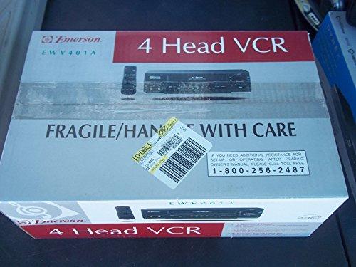 Emerson EWV401B Video Cassette Recorder Player VCR - Player Vcr Emerson
