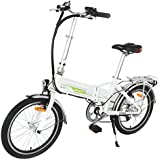 Onway 20 Inch 6 Speed Folding Electric Bicycle, Built-in Lithium Battery, 250W