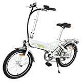 Image of Onway 20 Inch 6 Speed Folding Electric Bicycle, Built-in Lithium Battery, 250W Rear Wheel Brushless Motor