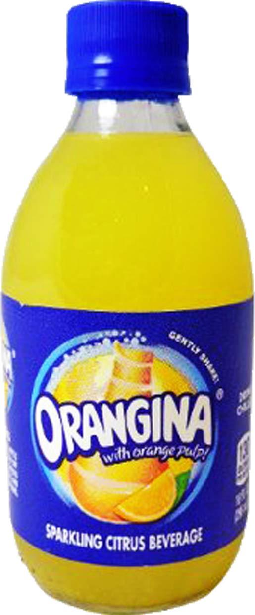 Orangina Sparkling Citrus Beverage with Pulp,10 Fl Oz Glass Bottle (Pack of 8, Total of 80 Fl Oz) by Orangina