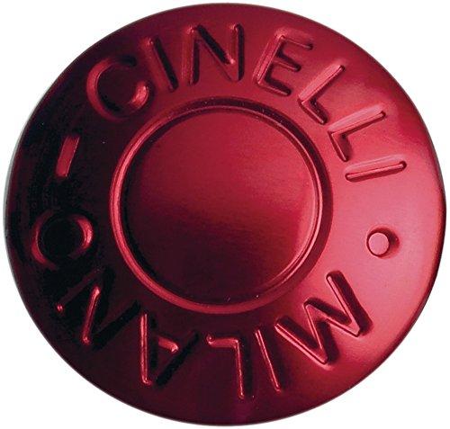 Cinelli Milano Anodized Handlebar Plugs, Red - Milano Bar