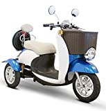 E-Wheels - EW-11 Sport Euro Type Scooter - 3-Wheel - Blue/White