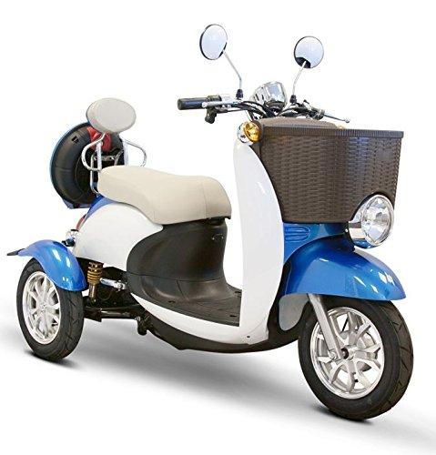 E-Wheels - EW-11 Sport Euro Type Scooter - 3-Wheel - Blue/White