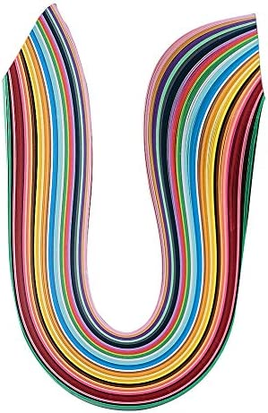 Beadthoven 525x10mm 36色 ペーパークイリング 紙 キット クイリングペーパー グラデーション色 DIY 材料 手芸 造花